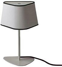 PETIT NUAGE-Lampe à poser H35cm blanc gansé noir
