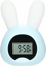 Petit réveil veilleuse lapin bleu clair réveil