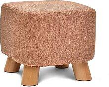 Petit tabouret chaise carrée en bois chaise