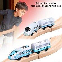 Petit train électrique en jouet avec rail