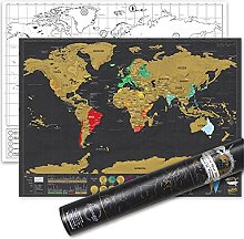 Petite carte du monde à gratter de luxe - Carte