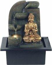 Petite Fontaine d'interieur Bouddha en resine 24.5