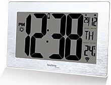 Petite Horloge Murale Moderne Radio-pilotée