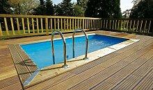 Petite piscine en bois haut de gamme 2,50 x 4,50 -