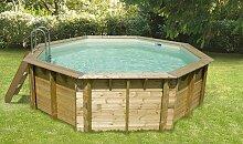 Petite piscine en bois otcogonale 4,30 m - Océa
