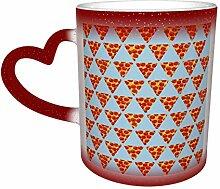 Petite Pizza Motif Symétrique Tasse Magique