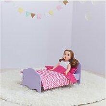 Petite princesse lit de poupée 45 cm violet et