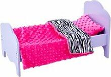 Petite princesse - lit de poupée de 45 cm violet