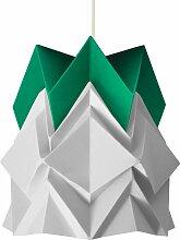 Petite suspension origami design bicolore en papier