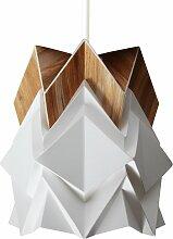 Petite suspension origami design en papier et