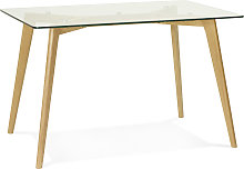 Petite table / bureau droit 'BUGY' en