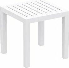 Petite table de jardin en plastique blanc