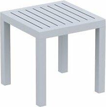 Petite table de jardin en plastique gris