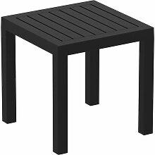 Petite table de jardin en plastique noir