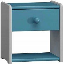 Petite table de nuit pour enfant - Bleu