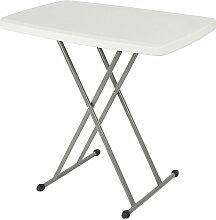 Petite table rectangulaire pliable 76*50*74 cm