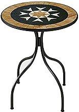 Petite Table Table Mosaïque en Fer Forgé De