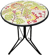 Petite Table Table Ronde en Parquet De Marbre