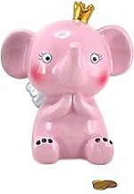 Petite tirelire elephant rose
