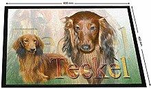 Pets-easy Tapis Maison Teckel Poil Long