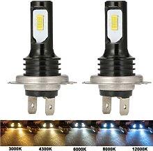 Phares de voiture H7 Turbo, ampoules Automobiles