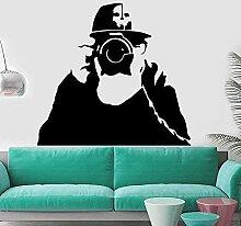 Photographe Sticker mural Cool garçon motif auto