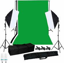 Photographie Kit D'Eclairage Softbox Avec Fond