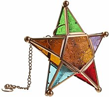 Photophore à suspendre en forme d'étoile -