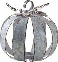 Photophore citrouille métal antique