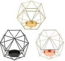 Photophore géométrique poli 3D, pièces