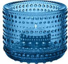Photophore Kastehelmi / H 6,4 cm - Iittala bleu en