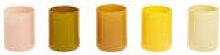 Photophore Spot / Set de 5 - Verre - Hay jaune en