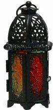 Photophore style marocain creux lanterne bougie