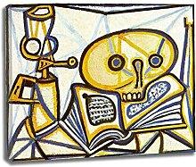 Picasso《Grue, livre et lampe à