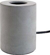 Pied de lampe de table 'NIGRI' gris effet