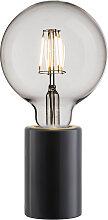 Pied de lampe en marbre noir