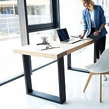 Pieds de Table Industriel 2Pcs, Pieds de Bureau
