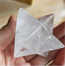 Pierre 5cm Naturel Clear Crystal Merkabah Pendulum