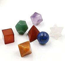 Pierre 7 Chakra cicatrisant cristal sculpté de