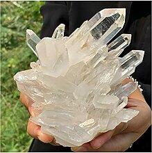 Pierres précieuses Beaux grappes en cristal blanc