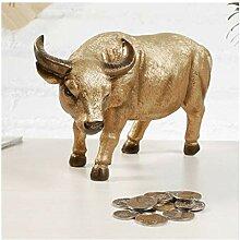 Piggy Banque Cute Coche Résine Tirelire Banque