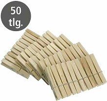 Pince à linge bois, lot de 50 pièces - Wenko