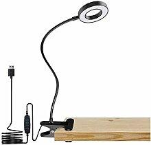 Pince Bureau De Lecture Lampe Pince Avec Prise 3