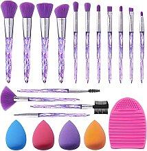 Pinceaux Maquillages Cristal 7 code 15pcs Kit