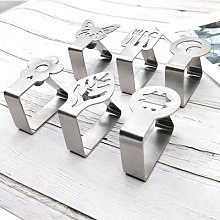 Pinces à linge de Table rondes en acier