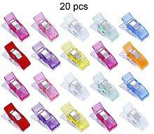 Pinces à tricoter polyvalentes couleur Pure, 20