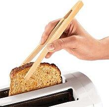 Pinces alimentaires en bambou, 2 pièces/lot,
