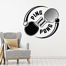 Ping-Pong Sticker Mural Sport Raquette Tennis De