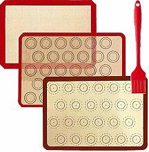PINKE 3 Pièces Tapis De Cuisson En Silicone