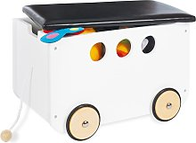 Pinolino Coffre avec roues pour jouets Jim Blanc